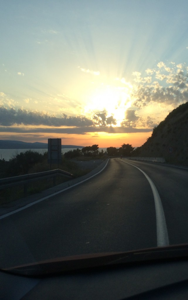Driving on the Dalmatian coast