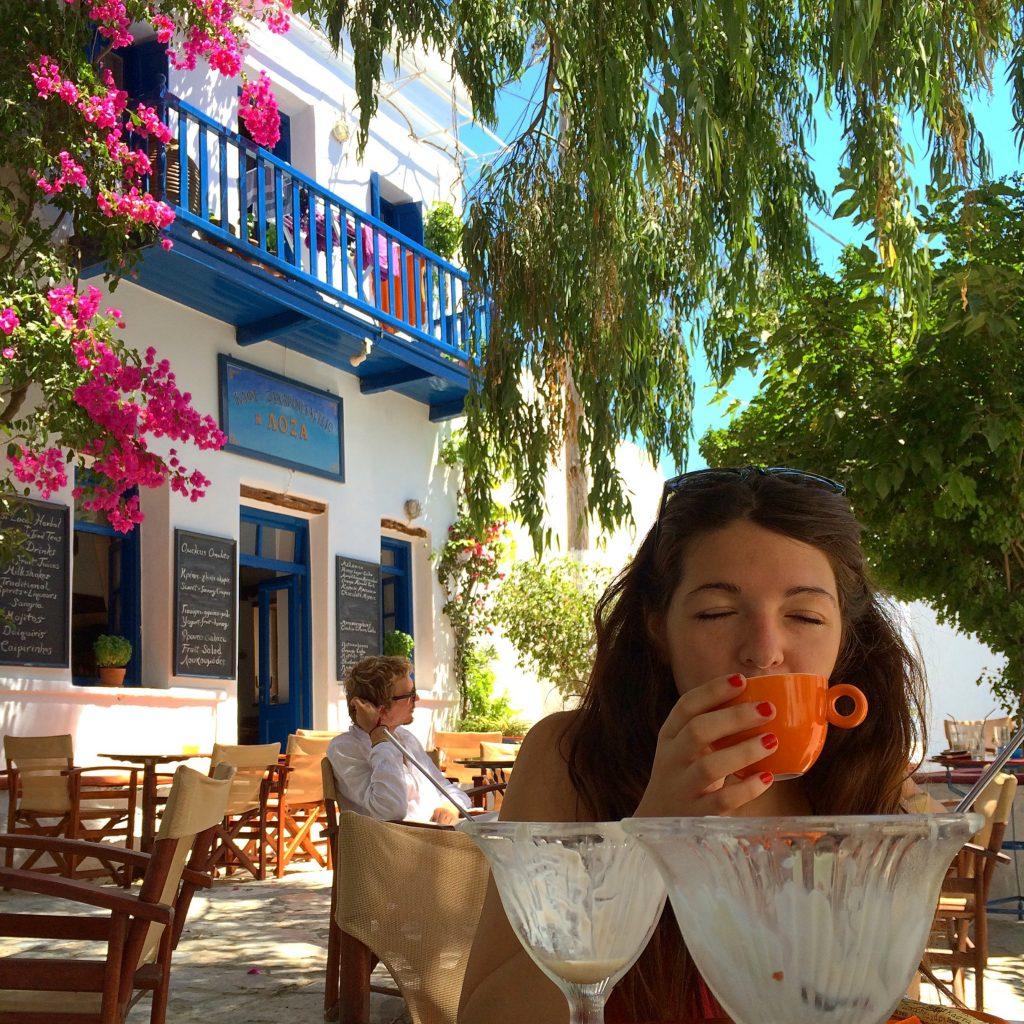 Loza Cafe in Amorgos