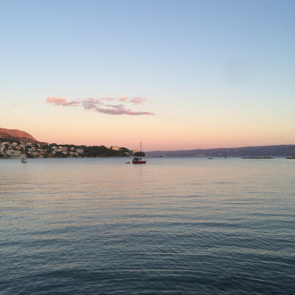 The port of Porat, near Split in Croatia