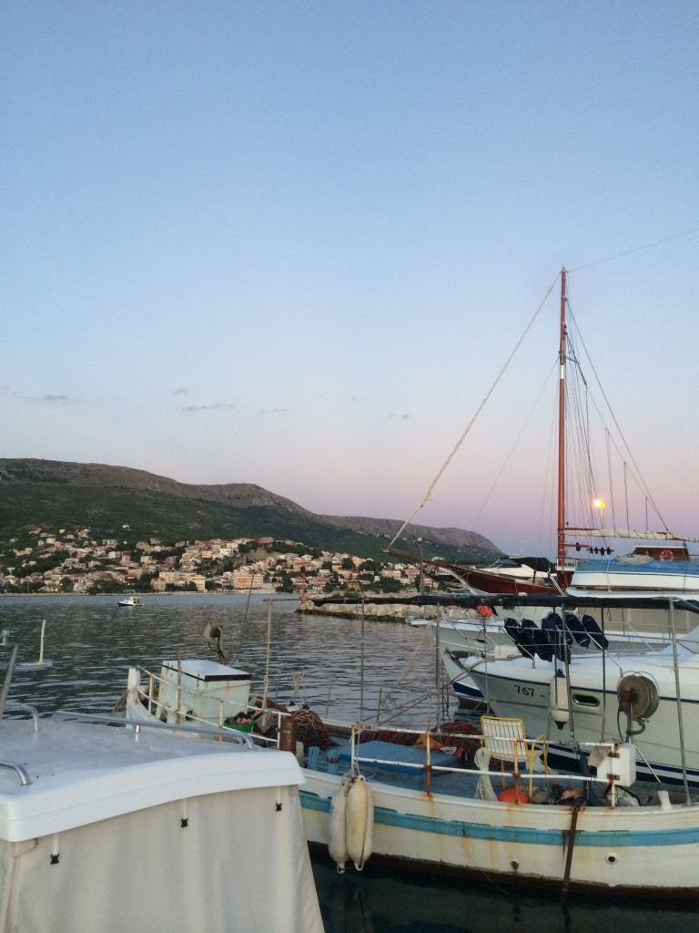The view on the harbours from our hotel in Porat