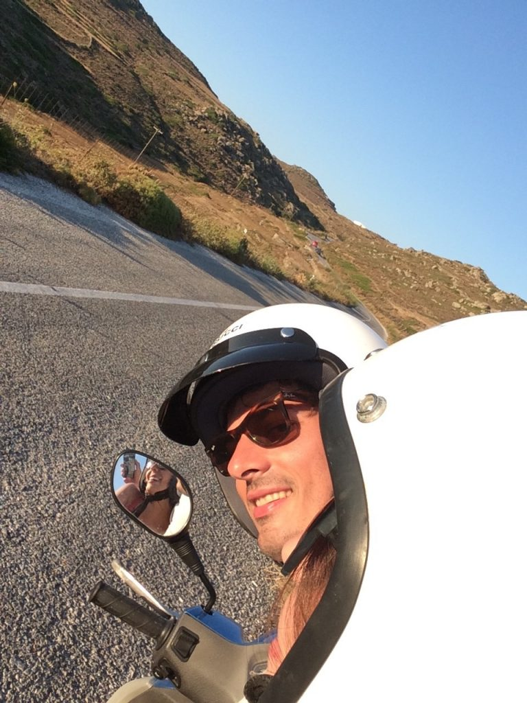 Scooter in Amorgos