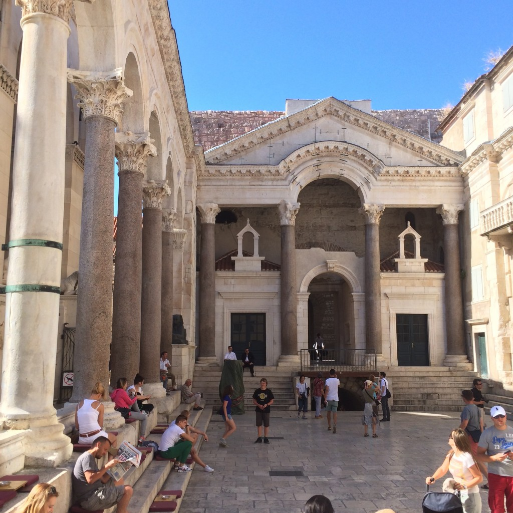 The center of Split, in Croatia