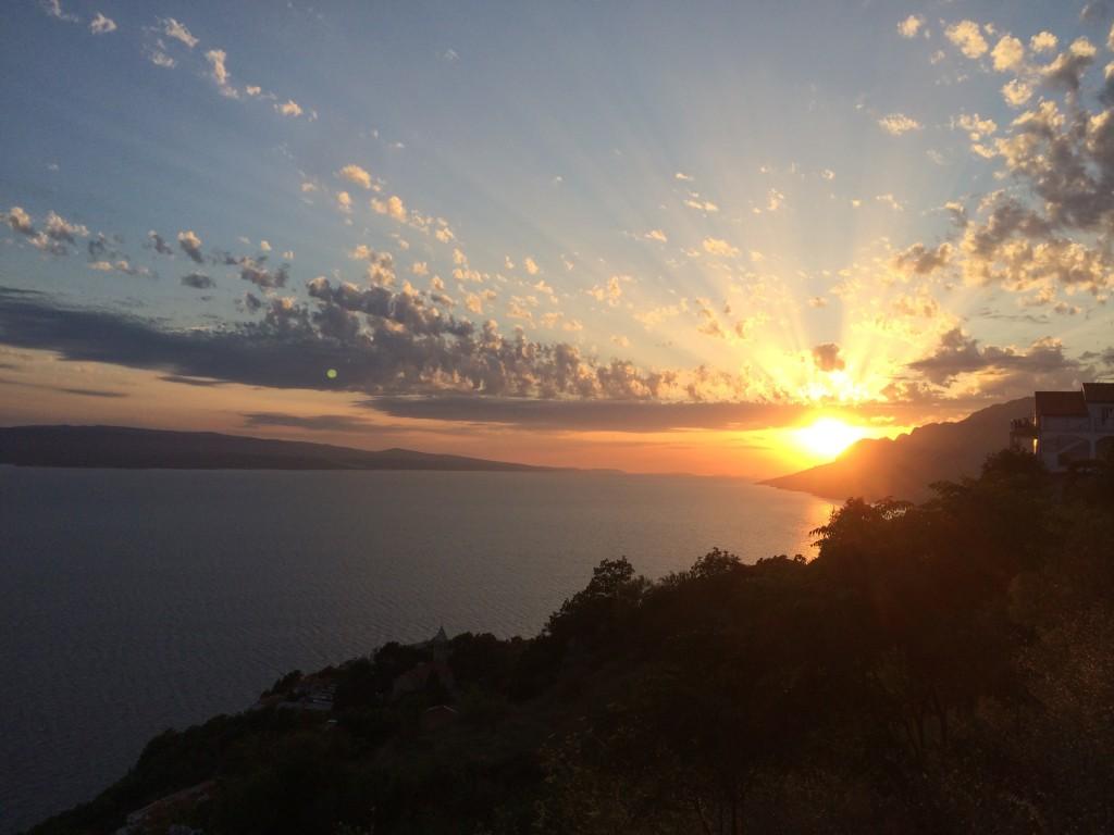 Sunset on the Dalmatian Croatia