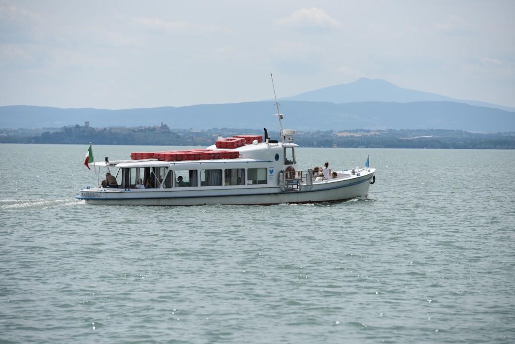 Ferry boat to Isola Maggiore, Lake Trasimeno