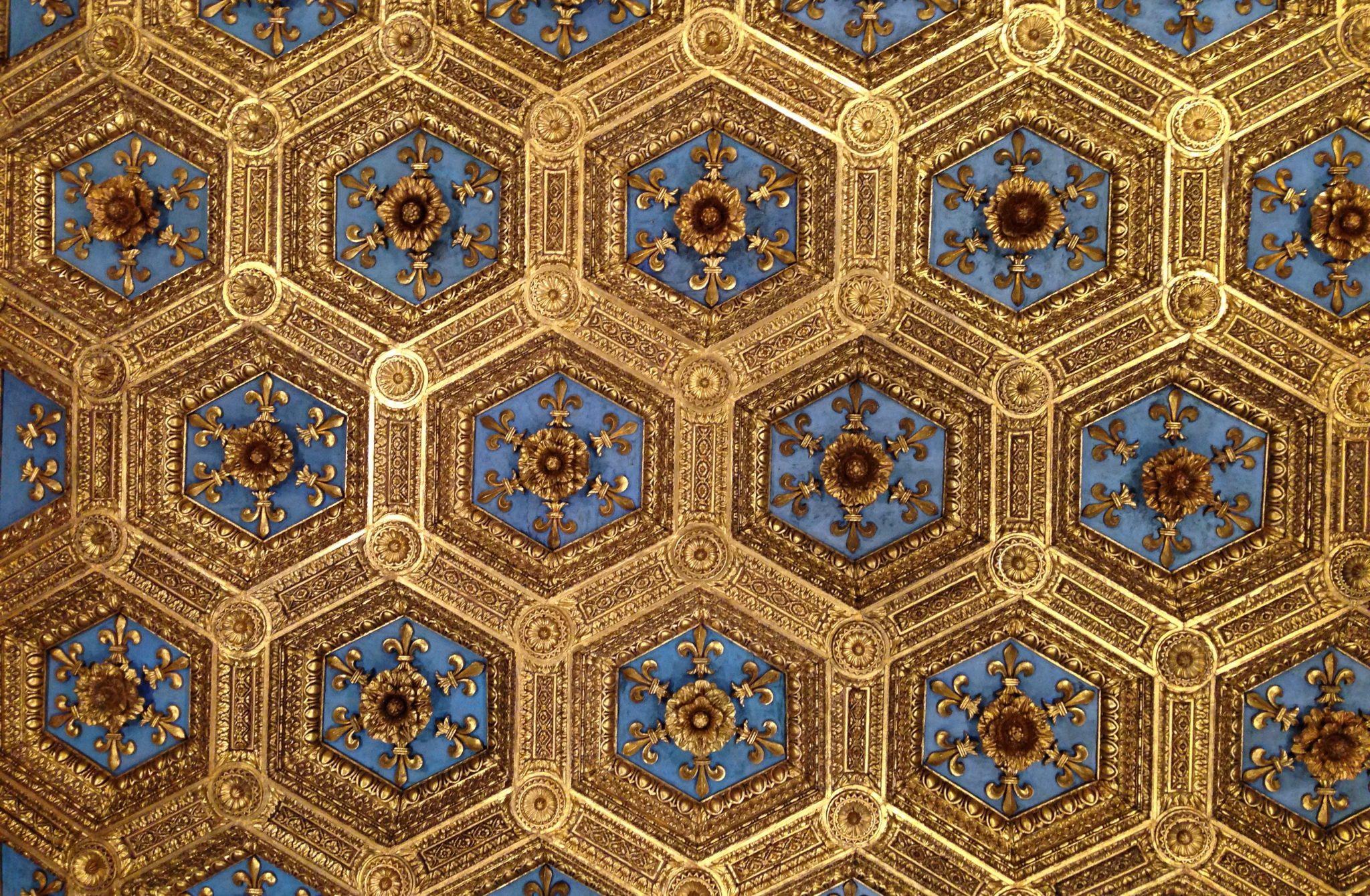 roof of the salone degli otto in Florence, Palazzo vecchio
