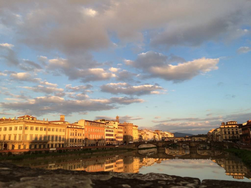 Sunset from Ponte alla Carraia Florence