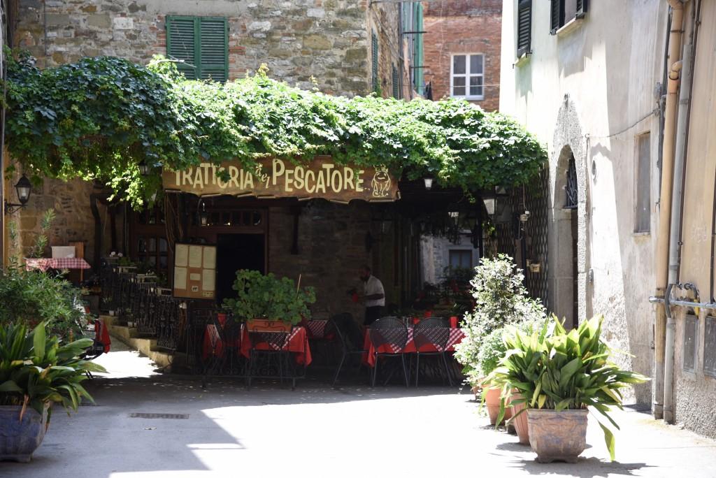 """Restaurant """"Trattoria Pescatore"""" in Passignano, Lake Trasimeno"""