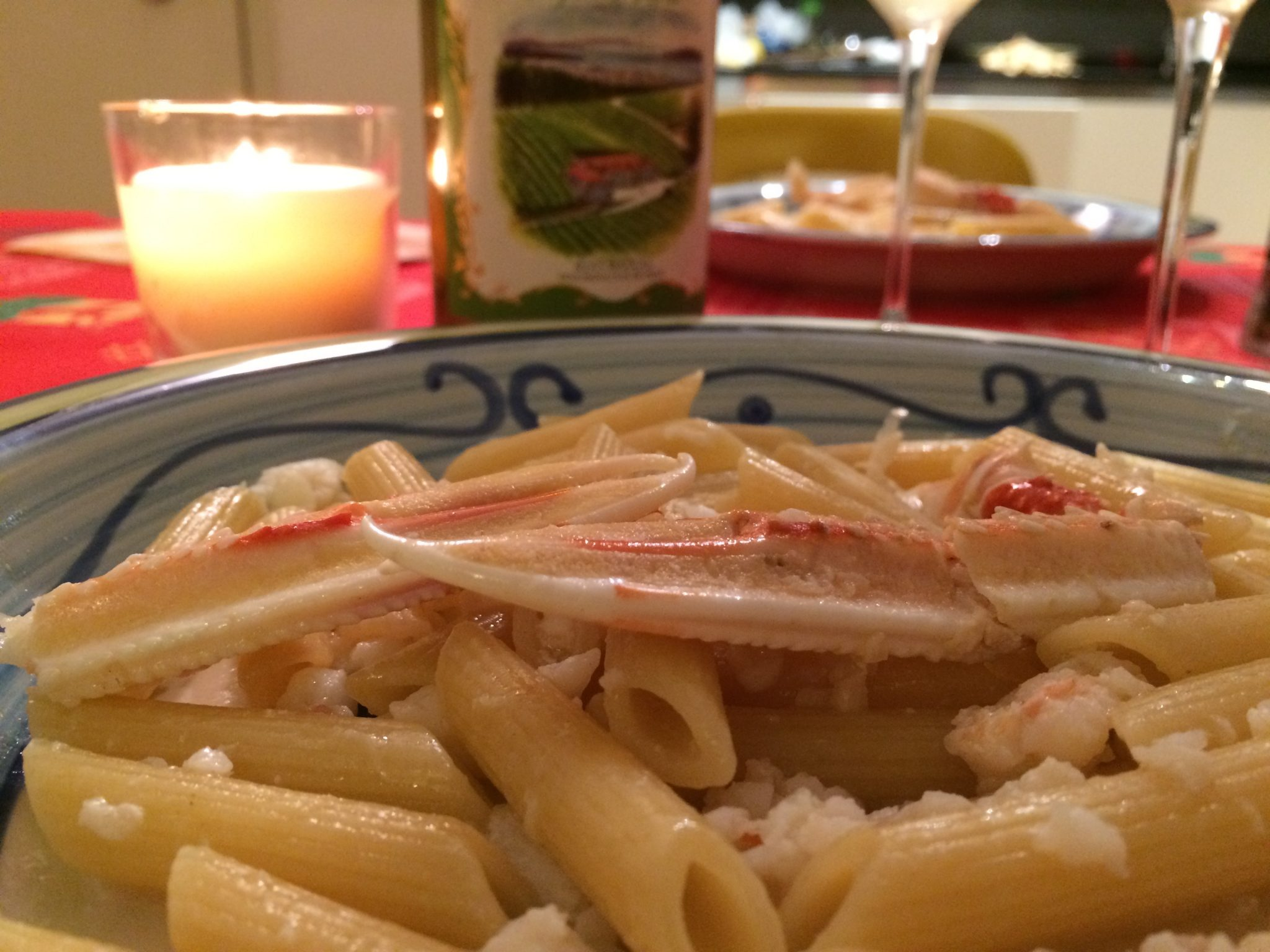 penne scampi and white wine