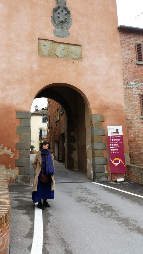 Marciano della Chiana the entrance to the village