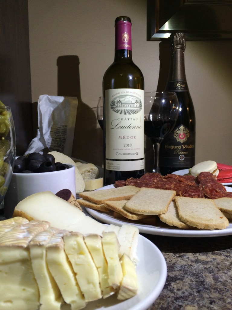 Quebec cheese paired with bordeaux, and Spanish cava paired with macaroons