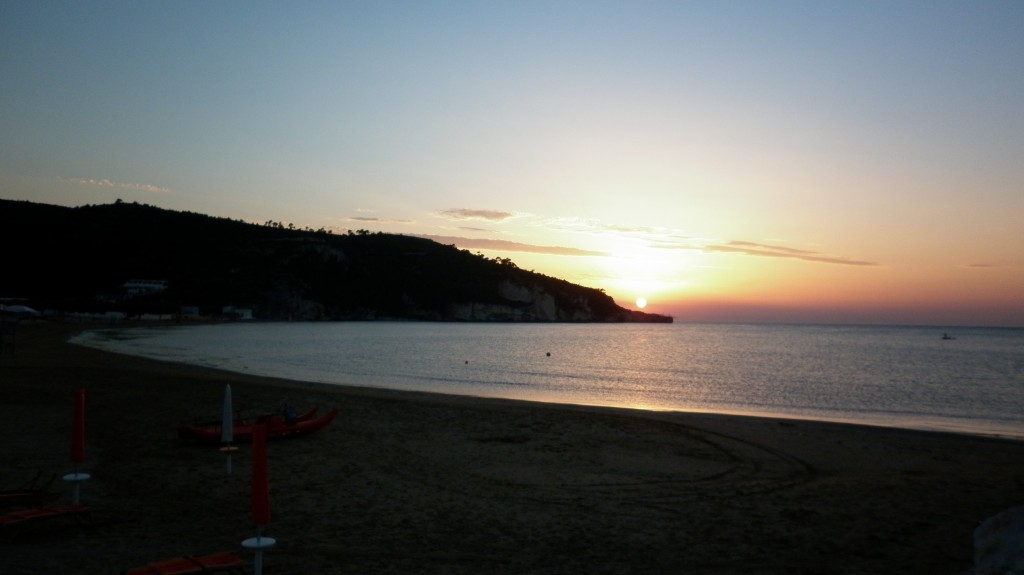 Beach of Peschici in Puglia