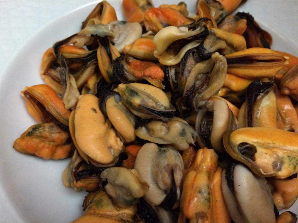 Cozze with no shell for pasta
