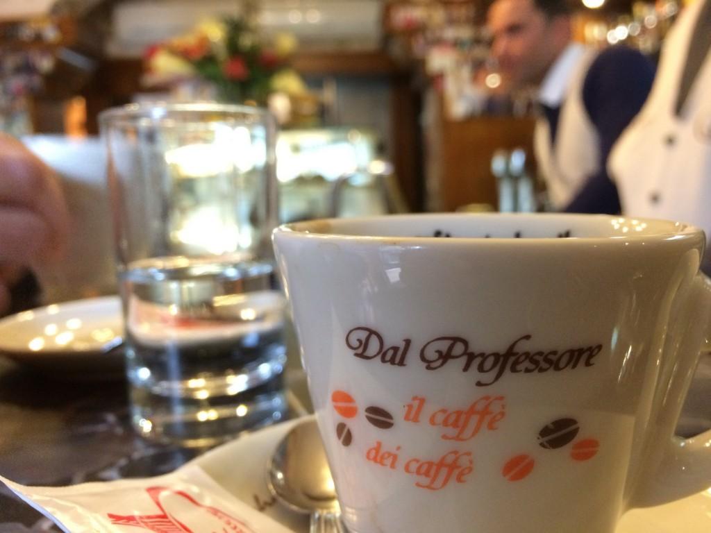 """The coffee at """"Caffè del Professore"""""""