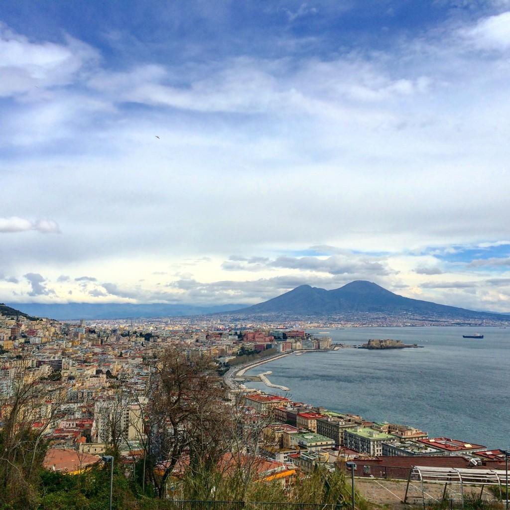Napoli view on Vesuvio and Vomero