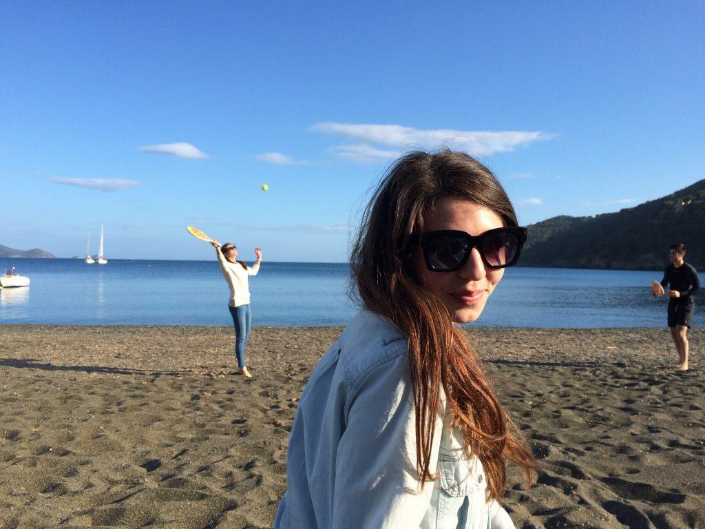 Christina on the Mergidore beach