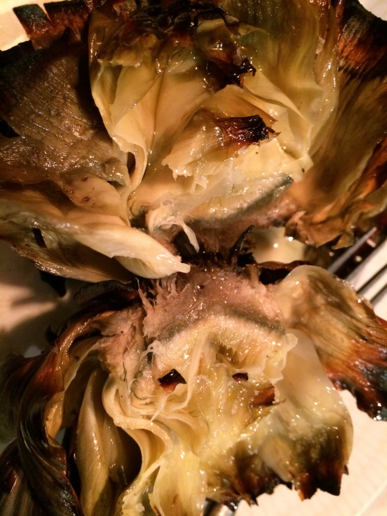 Grilled artichokes at el Canalla