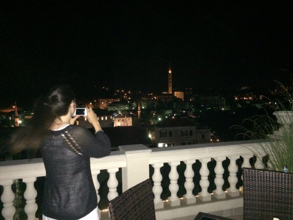 Night view from Shangri La rooftop