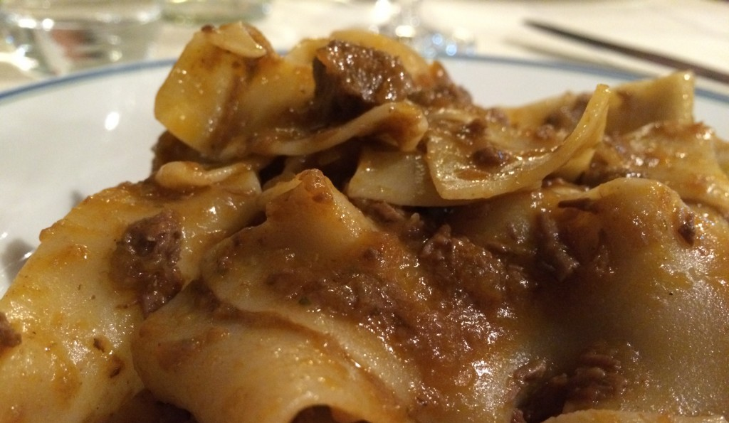 Pappardelle with deer