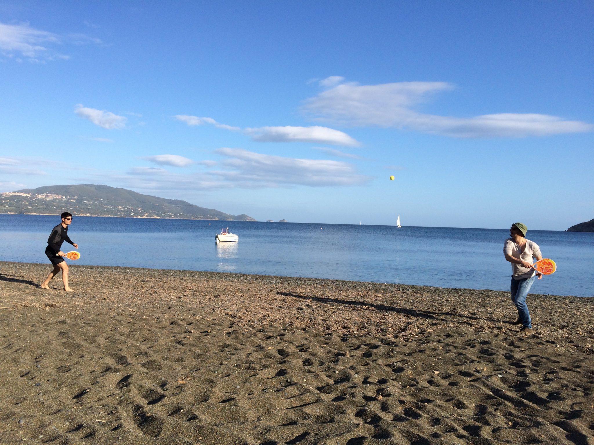 Playing rackets at Elba island