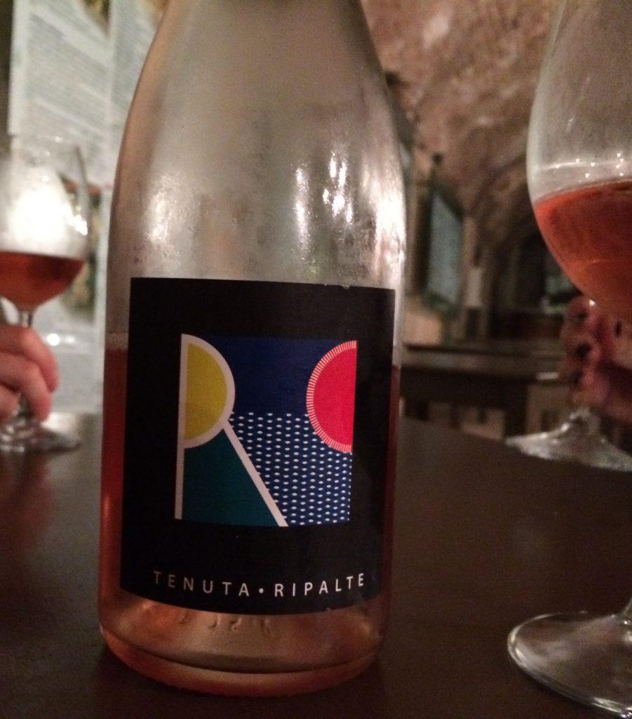 Tenuta ripalte aleatico fizzy wine Elba