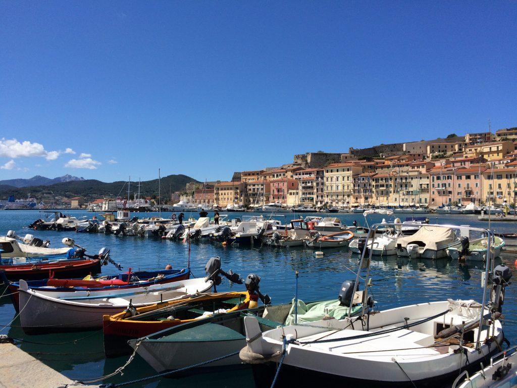 The harbour of Portoferraio