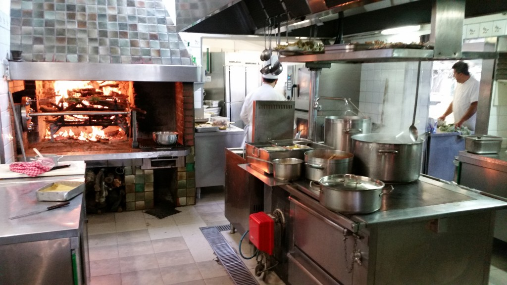 The kitchen of la Delfina