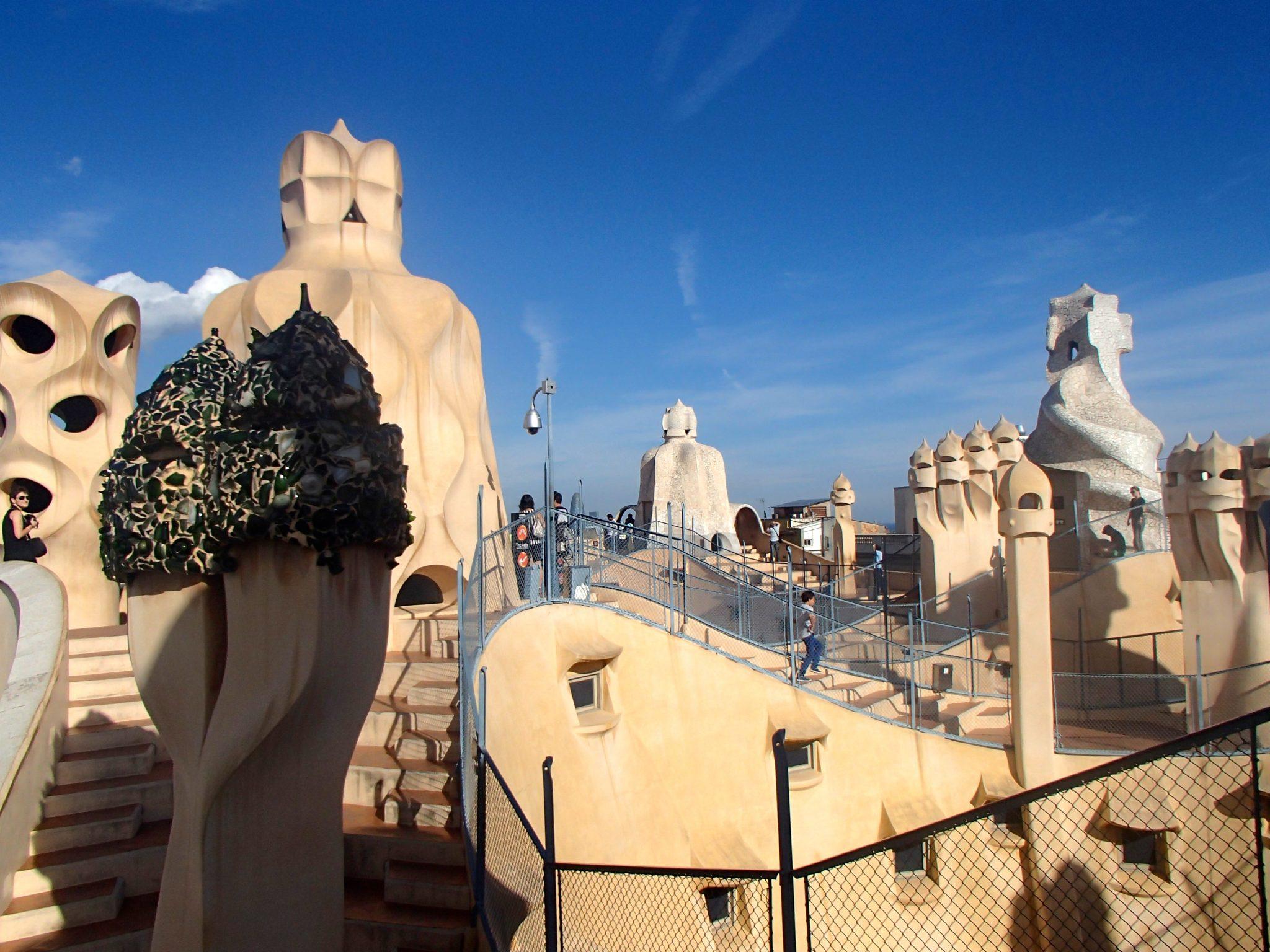 La Pedrera rooftop cava tapas