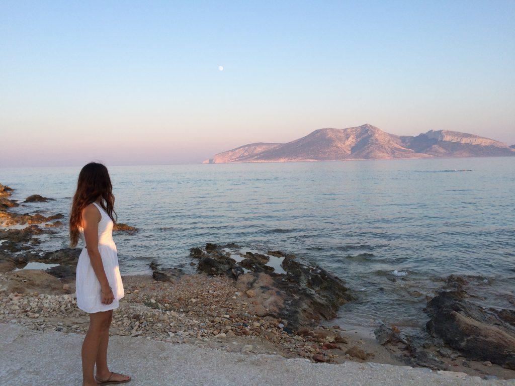Fanos beach in Koufonisia at sunset