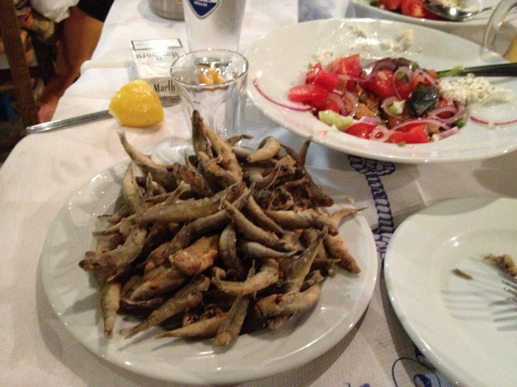 fried anchovies at Catepan Nicolas
