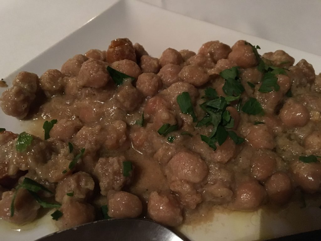 Chickpeas slow cooking at t aloni restaurant Lefkada