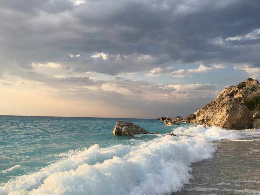 The blue waves of Lefkada
