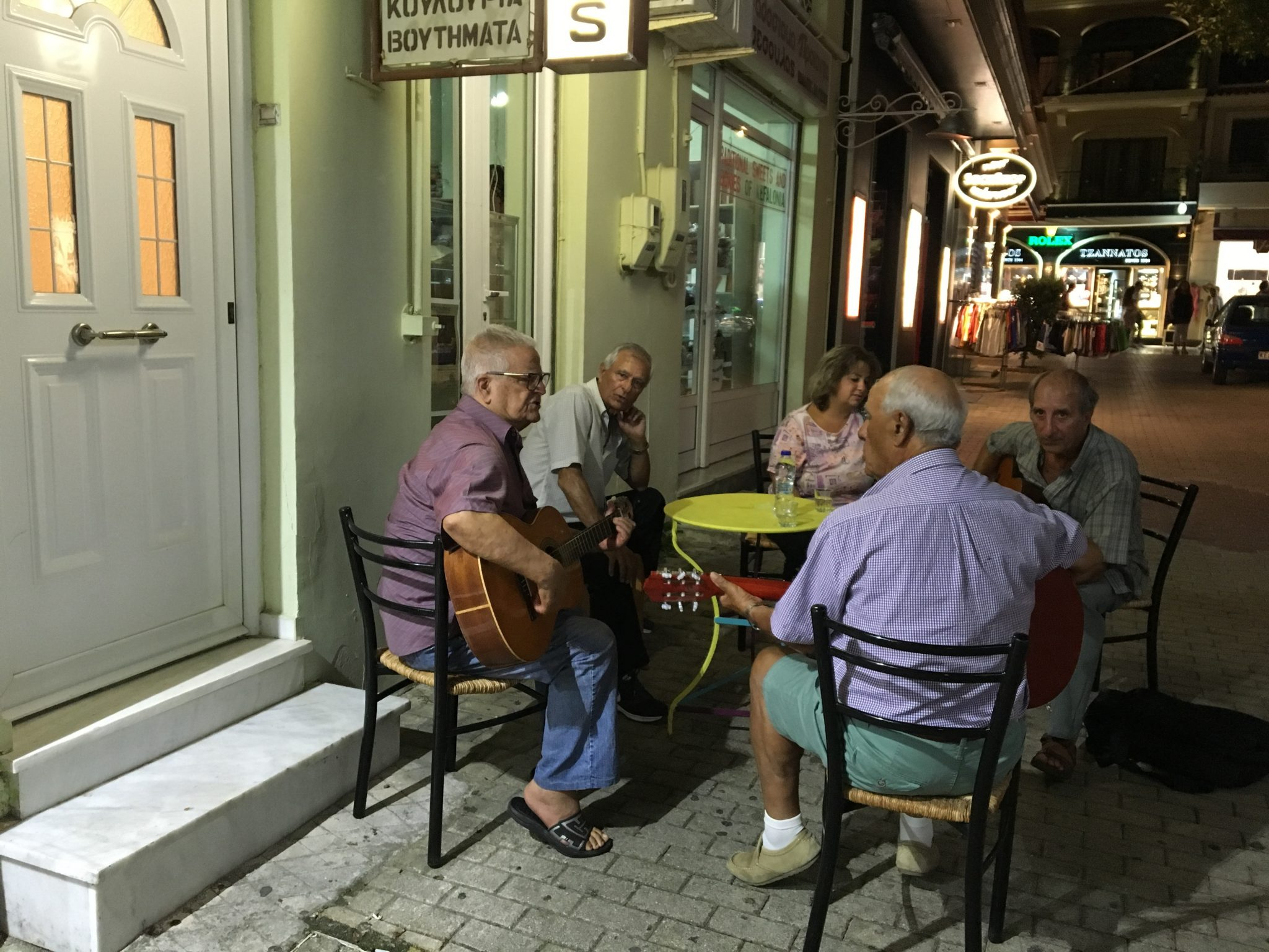 the streets of argostoli with greek music