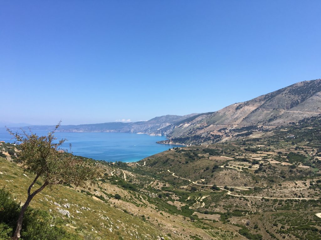 view on the gulf of zola in kefalonia