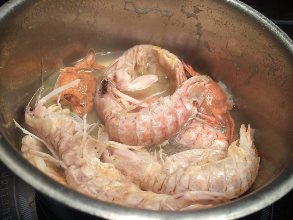 shrimps broth