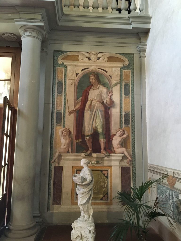 Fresco at the entrance of San Bartolomeo a Monteoliveto