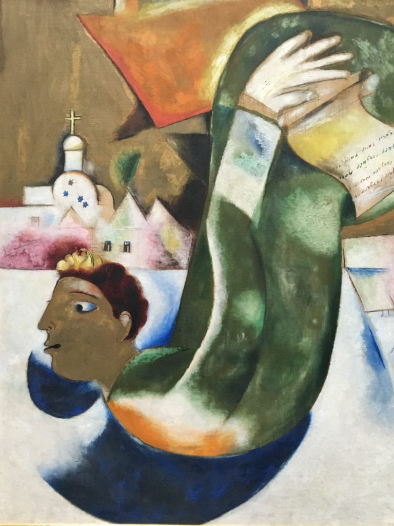 Marc Chagall the holy cabman 1911