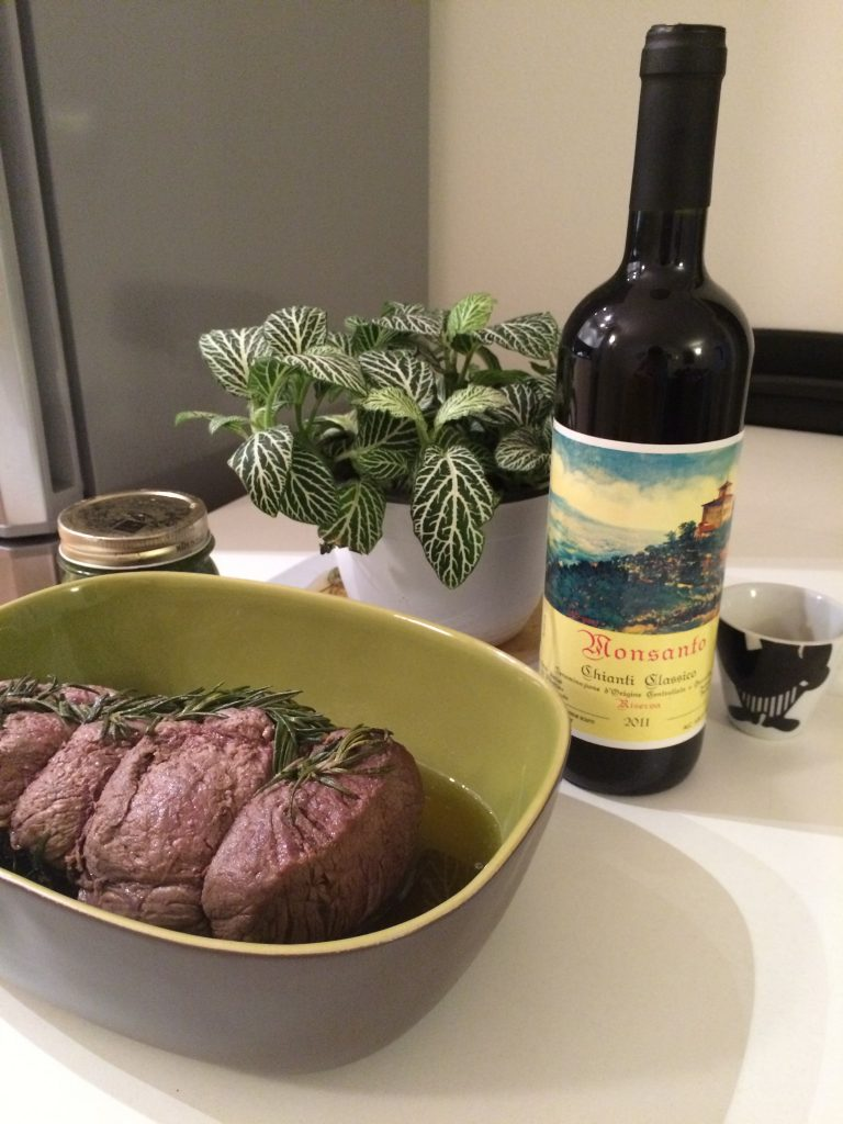 Monsanto riserva chianti classico paired with Roastbeef made from Melino