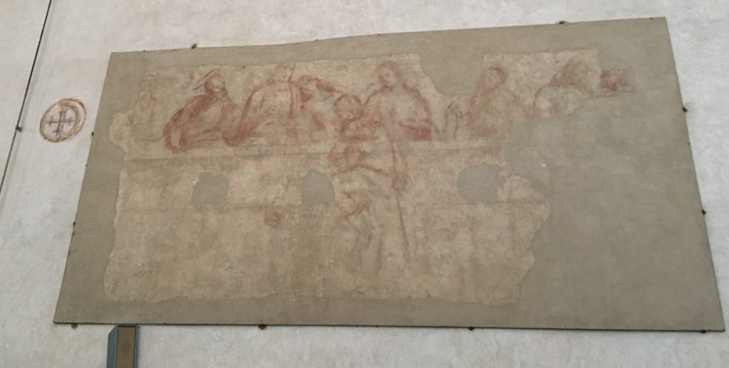 The sinopia or draft of the Sodoma last supper