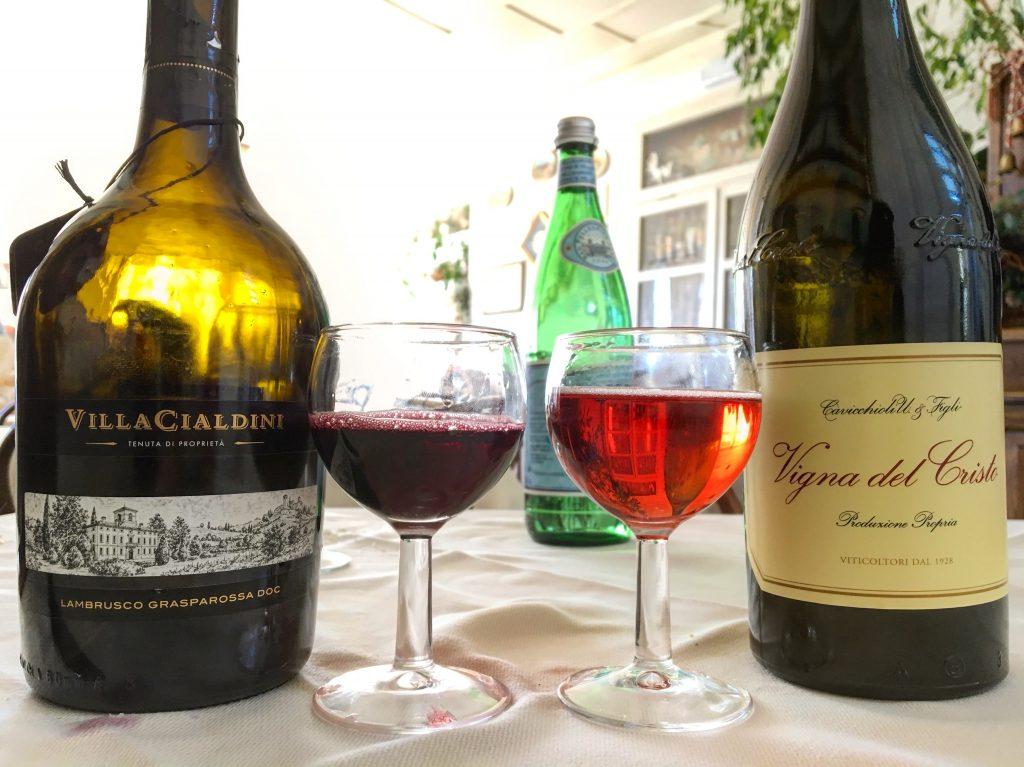 Emilia lambrusco wine