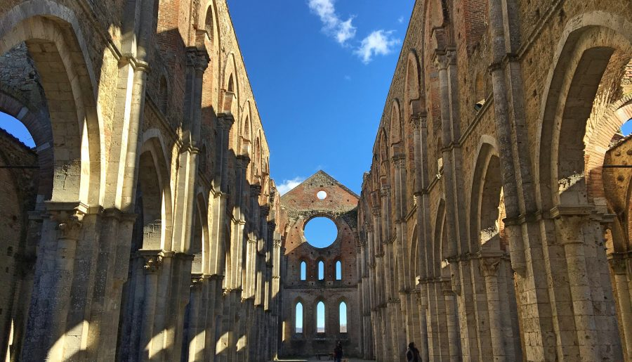 The legendary abbey of Saint Galgano in Chiusdino Tuscany