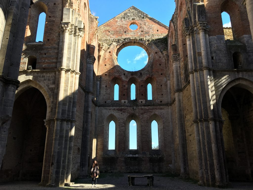 The altar in the abbey of S.Galgano