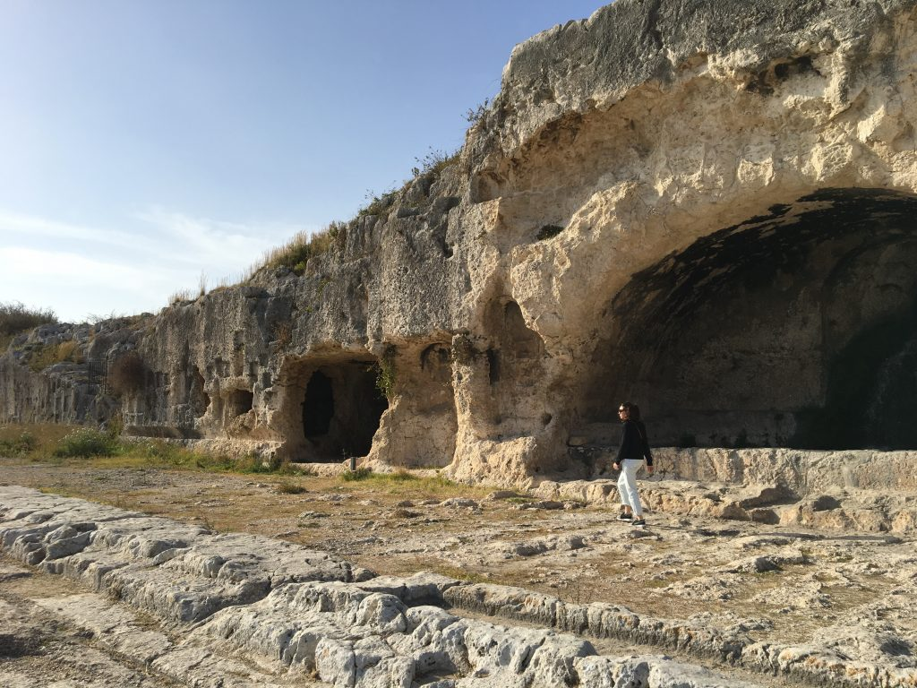 Bizantine tumbs in the archeological site of syracuse