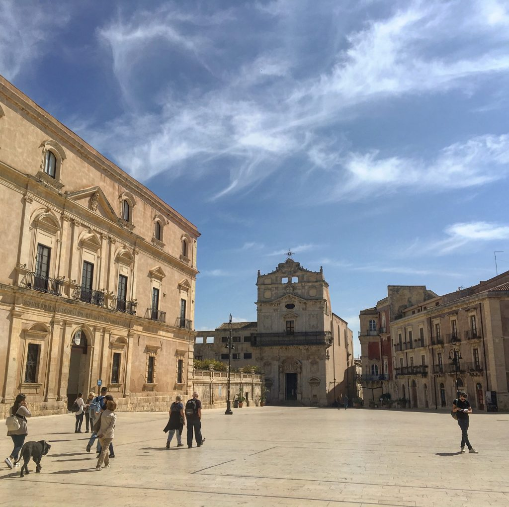 Main square view of syracuse ortigia