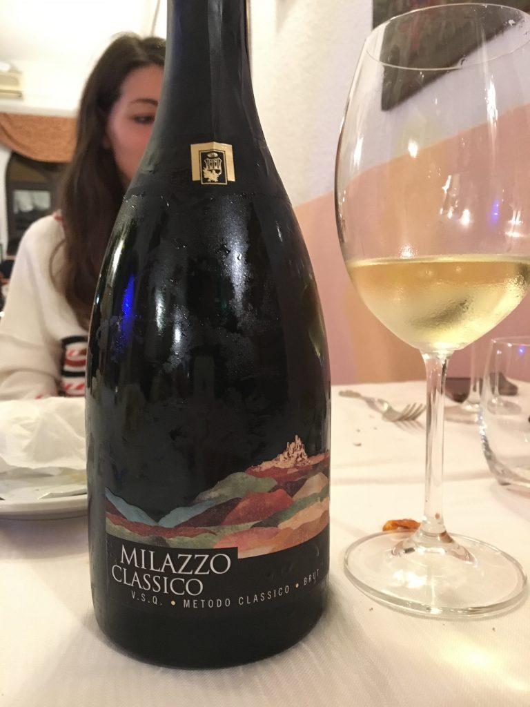Milazzo classico a sicilian champagne made of nerello mascalese grapes