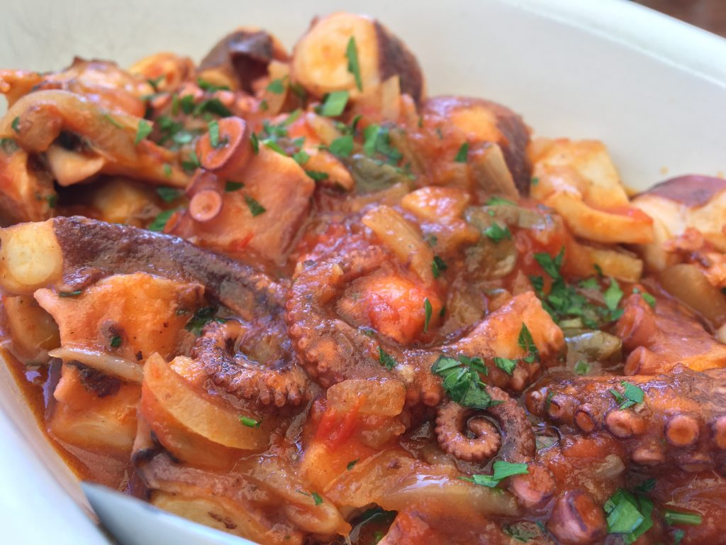 Sicilian octopus with tomato sauce