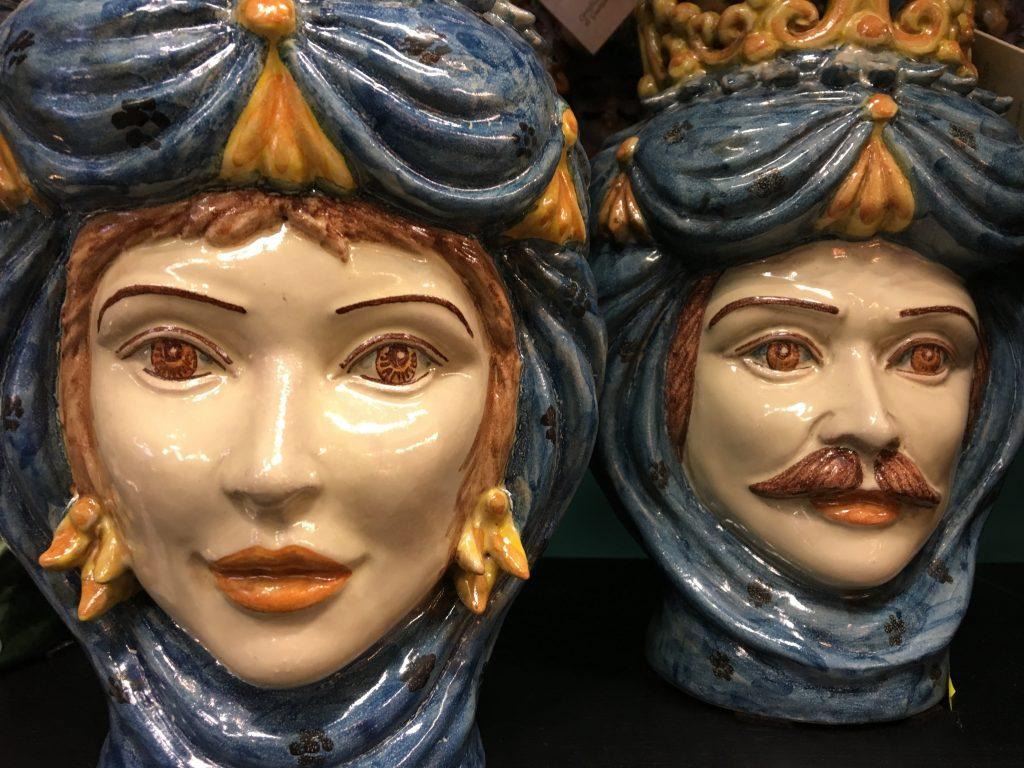 Sicilian teste di moro ceramic heads
