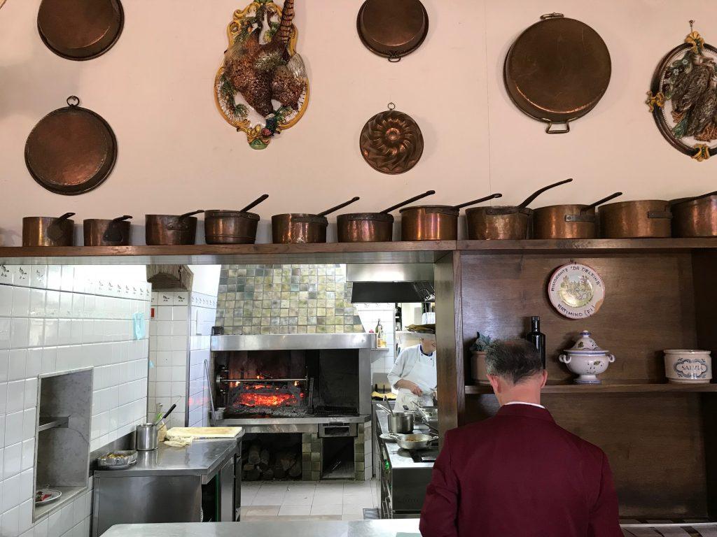La cucina del ristorante da delfina